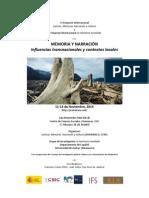 Call for Papers Vi Simposio Jusmenacu-memorias Noveladas