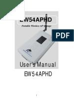 Ew54aphd Manual