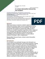 Pov Induced Iritant Dermatitis