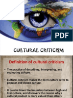 Summary for Cultural Criticism
