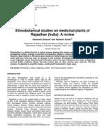 Sharma and Kumar- Ethano Botanical Studies of Medicinal Plants in Rajhastan