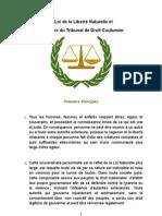 La Loi de La Liberte Naturelle Et Les Bases Du Tribunal de Droit Coutumier V2-1