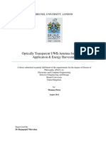 Optically Transparent UWB Antenna for Wireless Application and Energy Har Vesting