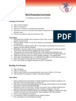 IELTS Preparation Test Format