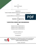 BE Major Project Format CSE