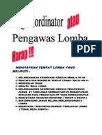 Tugas Koordinator & Pengawas Lomba