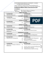 Mba Affilliated Time Table