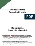 Diabet Zaharat Complicatii Acute