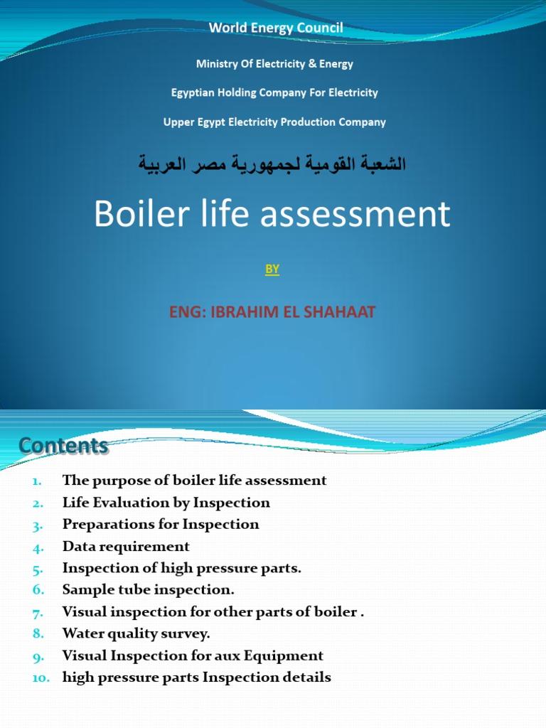 Boiler Life Assessment | Boiler | Pipe (Fluid Conveyance)