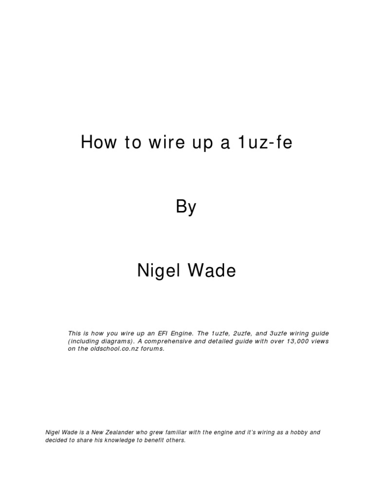 This is how you wire up a 1uz fe engine fuel injection automatic this is how you wire up a 1uz fe engine fuel injection automatic transmission publicscrutiny Images