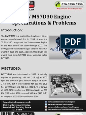 BMW M57D30 Engine | Bmw | Automotive Industry
