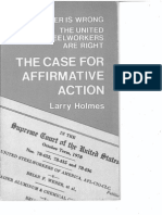 Case for Affirmative Action Pamphlet