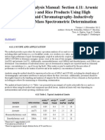 Elemental Analysis Manual Section 4.11 Arsenic Speciation in Rice and Rice Products Using High Performance Liquid Chromatography-Inductively Coupled Plasma-Mass Spectrometric Determination.doc