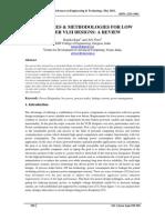 18 strategies Methodologies for Low Power Vlsi Designs a Review