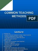Common Teaching Methods