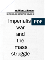 Imperialist War and Mass Struggle Pamphlet