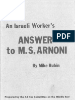 Israeli Workers Answer Pamphlet