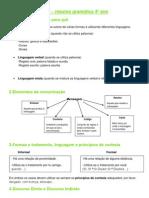 Língua Portuguesa - resumo gramática
