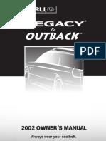 2002 Subaru Forester Owners Manual