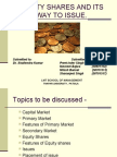 Equity Shares Ppt