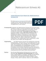 Unternehmens-Fact-Sheet Der Maklerzentrum Schweiz AG