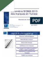 Barometre Sigma 2013 Des Marques en Tunisie