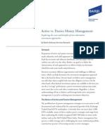 Active vs Passive Money Mgrs