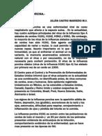 Influenza Porcina. M.V. Julian Castro