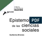 Epistemologia de Las Ciencias Sociales
