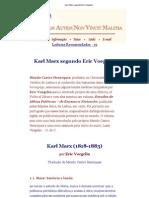 Karl Marx Segundo Eric Voegelin