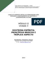 APOSTILA Modulo II Unidade 3 DOUTRINA ESPÍRITA 2013.1