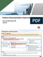Feature Documentation Improvements