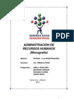 Monografia Adm de Recursos Humanos