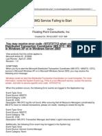 MSMQ Service Failing to Start