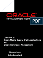 oracle supply change and warehouse management.