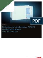 1mrk504090-Bes a Es Proteccion de Transformador Ret670 Configuracion Abierta Guia Del Producto