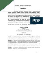 Proyecto de Reforma Constitucional 2009