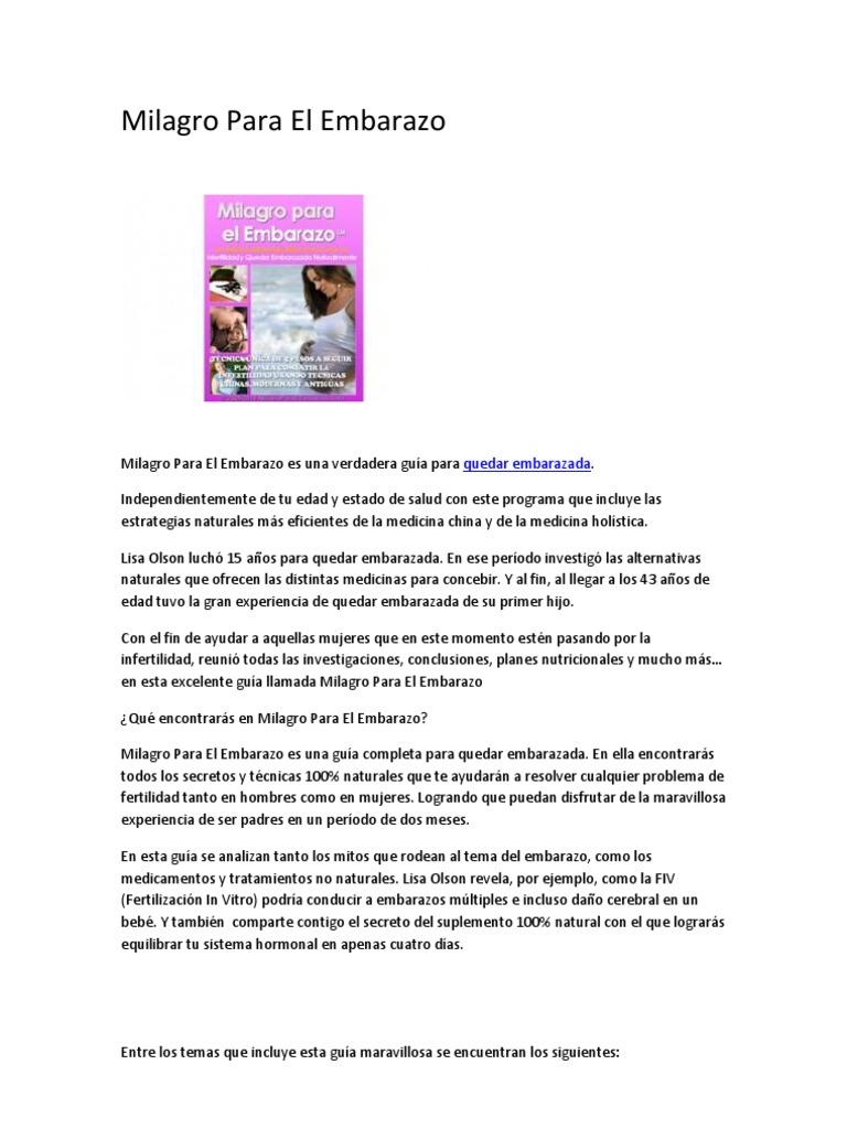 Hormonas naturales para salir embarazada