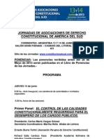 Programa Jornadas 2013
