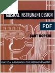 Musical Instrument Design Practical Information for Instrument Making Hopkin Bart