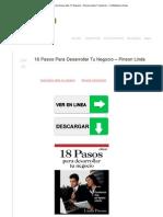 18 Pasos Para Desarrollar Tu Negocio – Pinson Linda _ FL