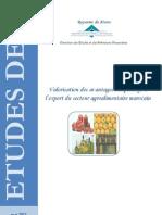 Valorisation Des Avantages Comparatifs Au Maroc