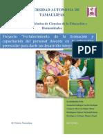 Falta de formación y actualización docente en la educación preescolar como base para el desarrollo integral del niño (Reparado)