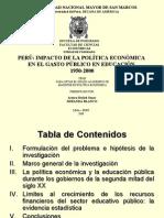 Política Económica e Inversión en Educación