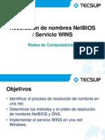 14 Resolución NetBIOS, Servicio WINS GRV