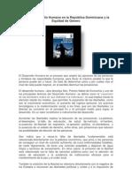 Sobre Desarrollo Humano en la República Dominicana y la Equidad de Genero