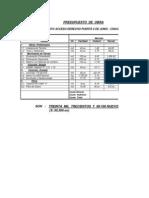 Obras Programadas Ejercicio Presupuestal 2005