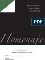 Rita Rutkowski, Juana Castro, Hisae Yanase. Homenaje