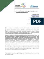 045 Blended Learning en La Ensec3b1anza de Una Lengua Extranjera Con Propc3b3sitos Especc3adficos