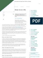 Banco de Dados Oracle, Mysql, Access e SQL Server – Diferenças